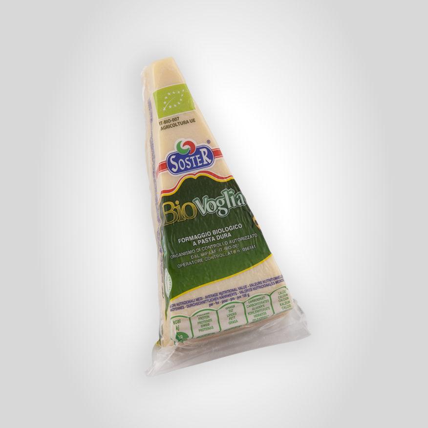 Organic Hard  Cheese wedge