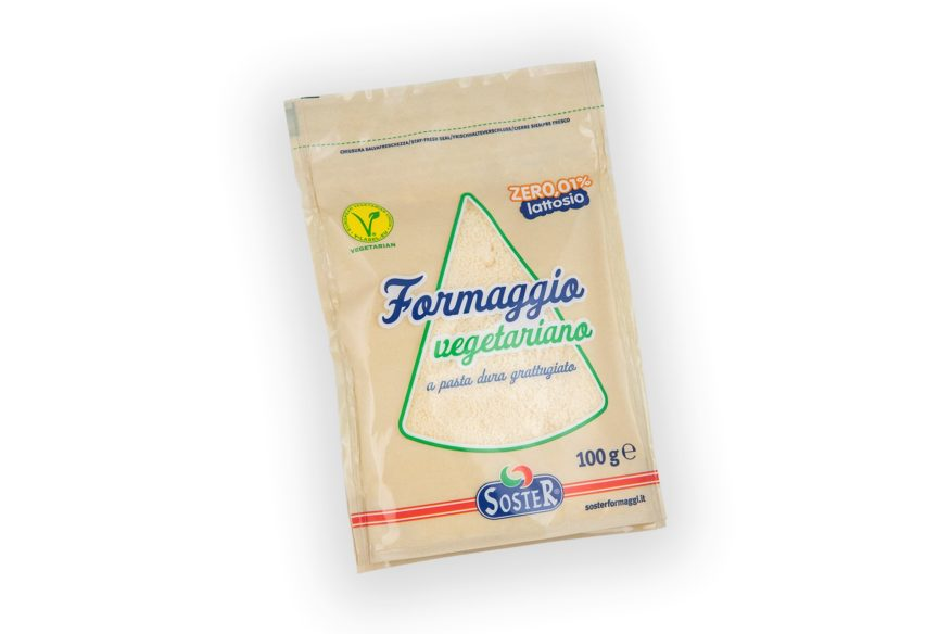 Grated cheese with stay-fresh seal (self-standing bag)